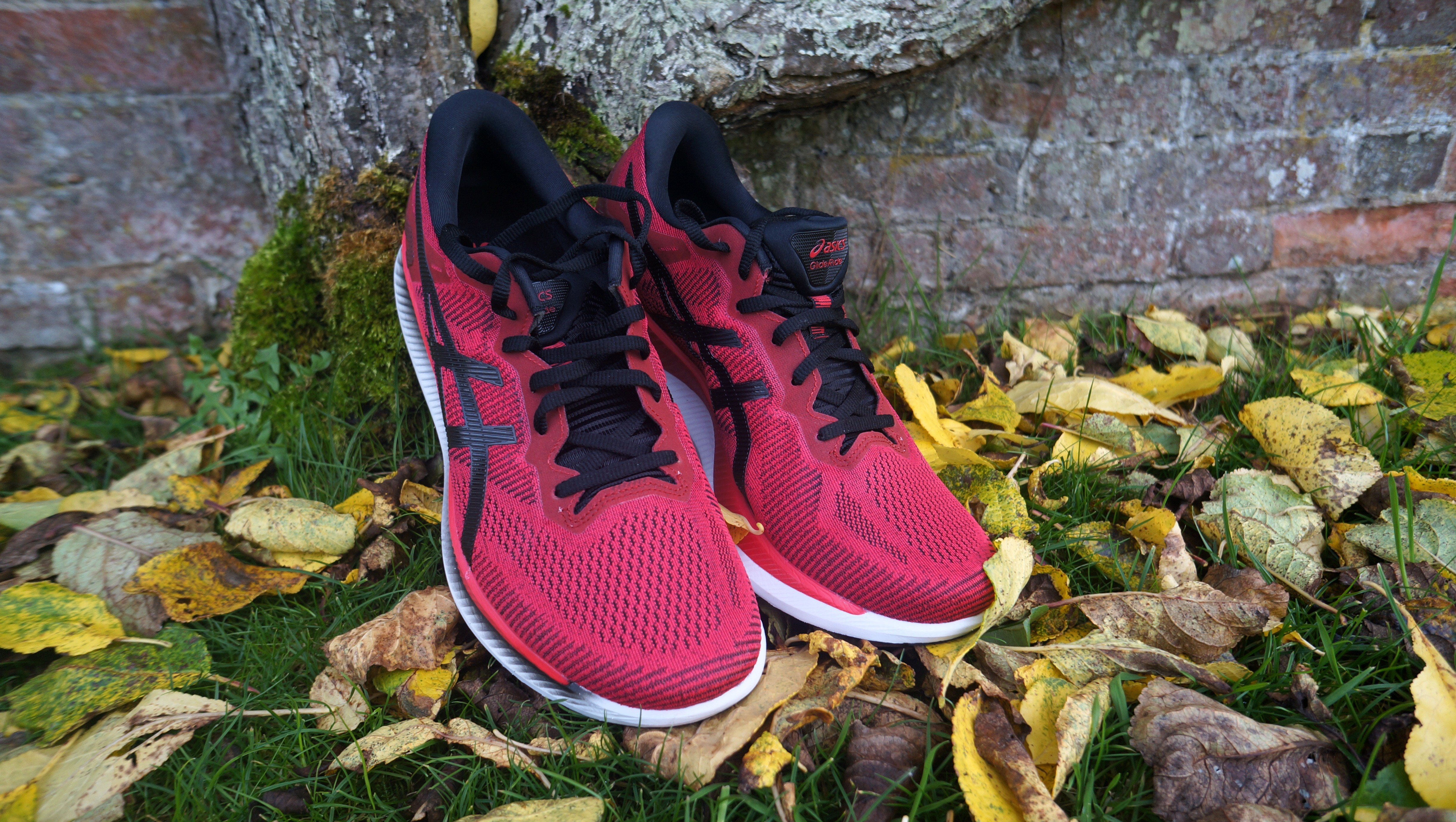Asics GlideRide - little to no traction forces you to stick to the hard surface