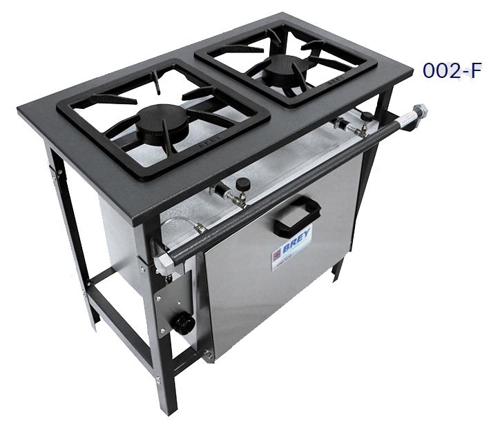 Fogão alta pressão 02 bocas com forno Metal Brey