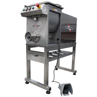 Moedor Homogeneizador de carne Inox, Boca 98 Inox HS-98 220V Trifásico Skymsen