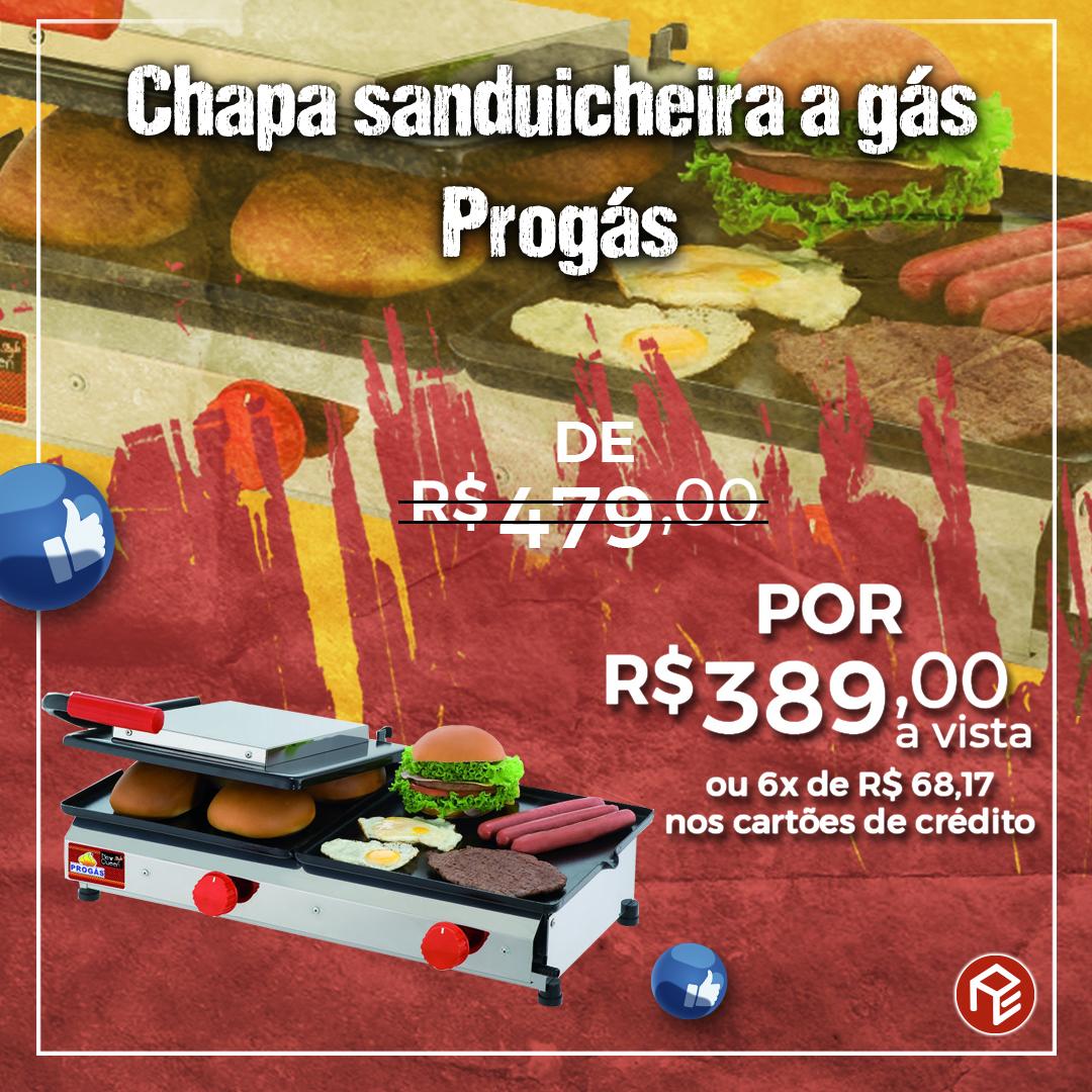 Chapa Sanduicheira PR-700 Progás