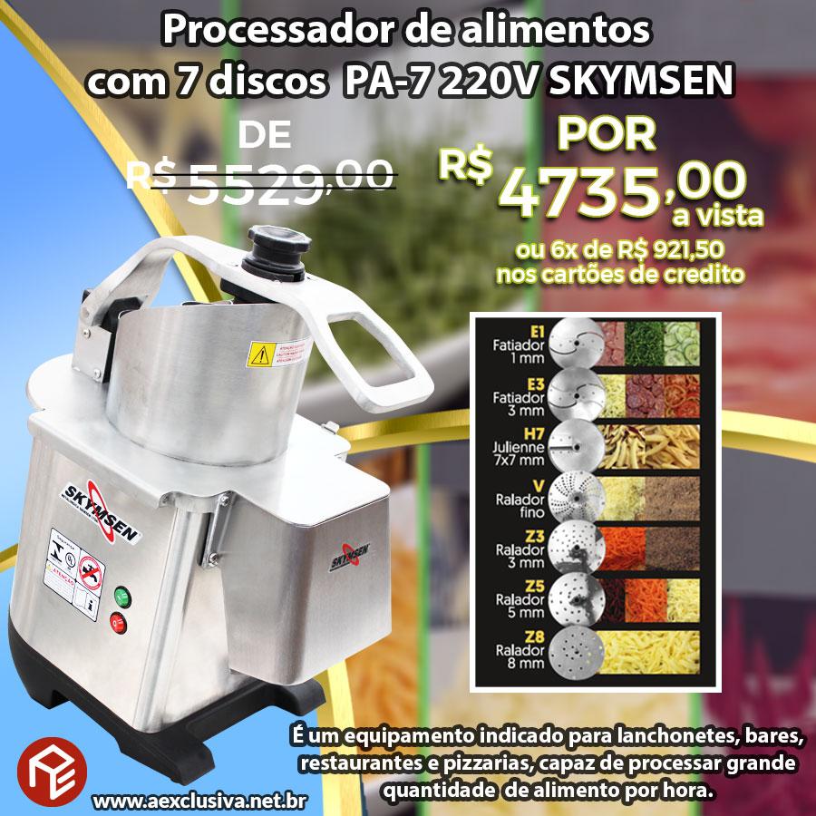 Processador de alimentos para pizza e outros PA-7 Skymsen