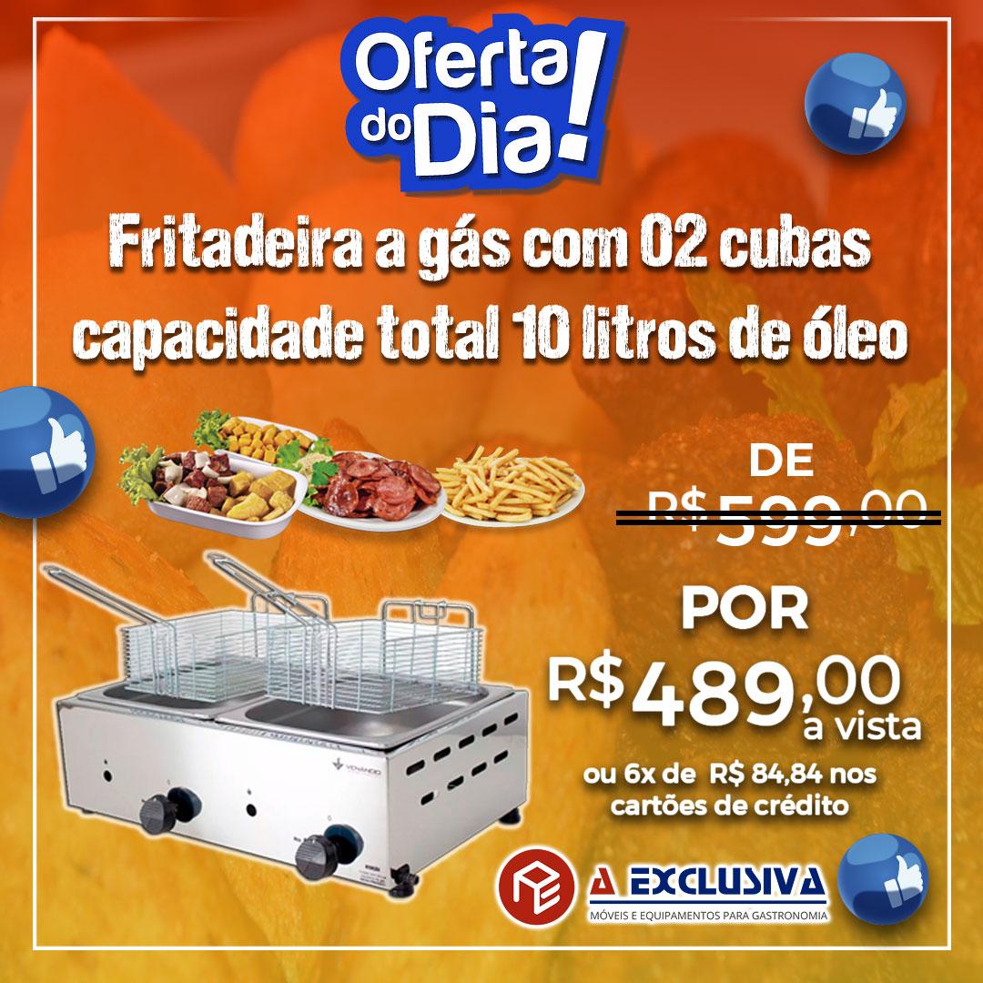 Fritadeira a Gás 02 Cubas SFG212 Venâncio