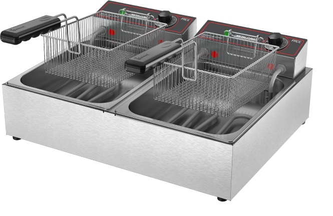 Fritadeira elétrica 02 cubas 06lts FRCE 06 Metalcubas