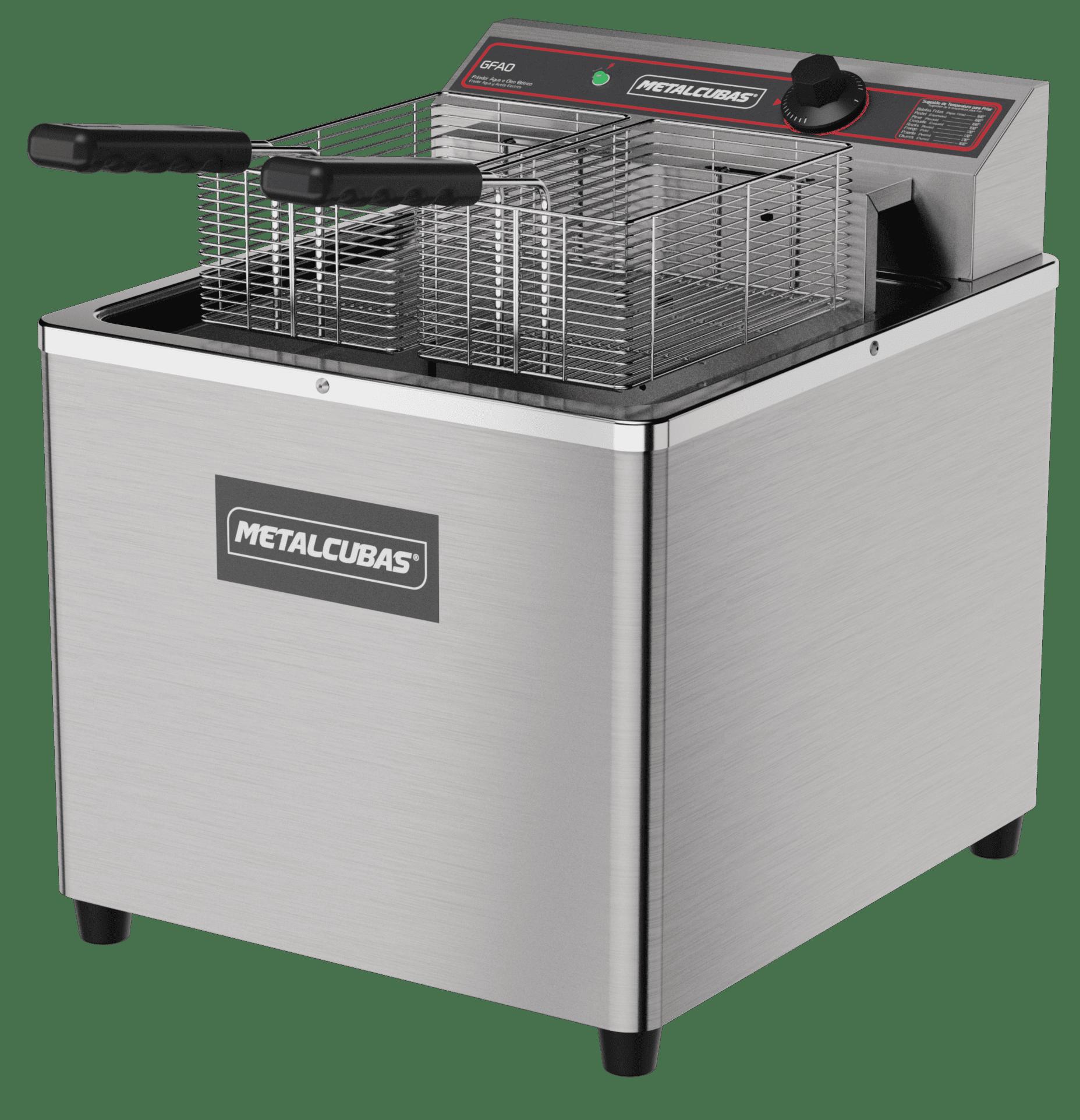 Fritadeira elétrica água e óleo 18 litros GFAO 18 M Metalcubas