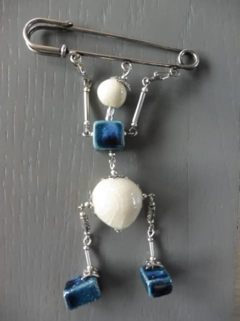 Broche Mobile Bleu