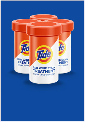 Tide Treatments for wine stains can help with both laundry stains and odors.