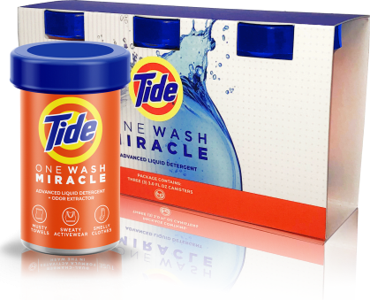 Tide One Wash Miracle packaging