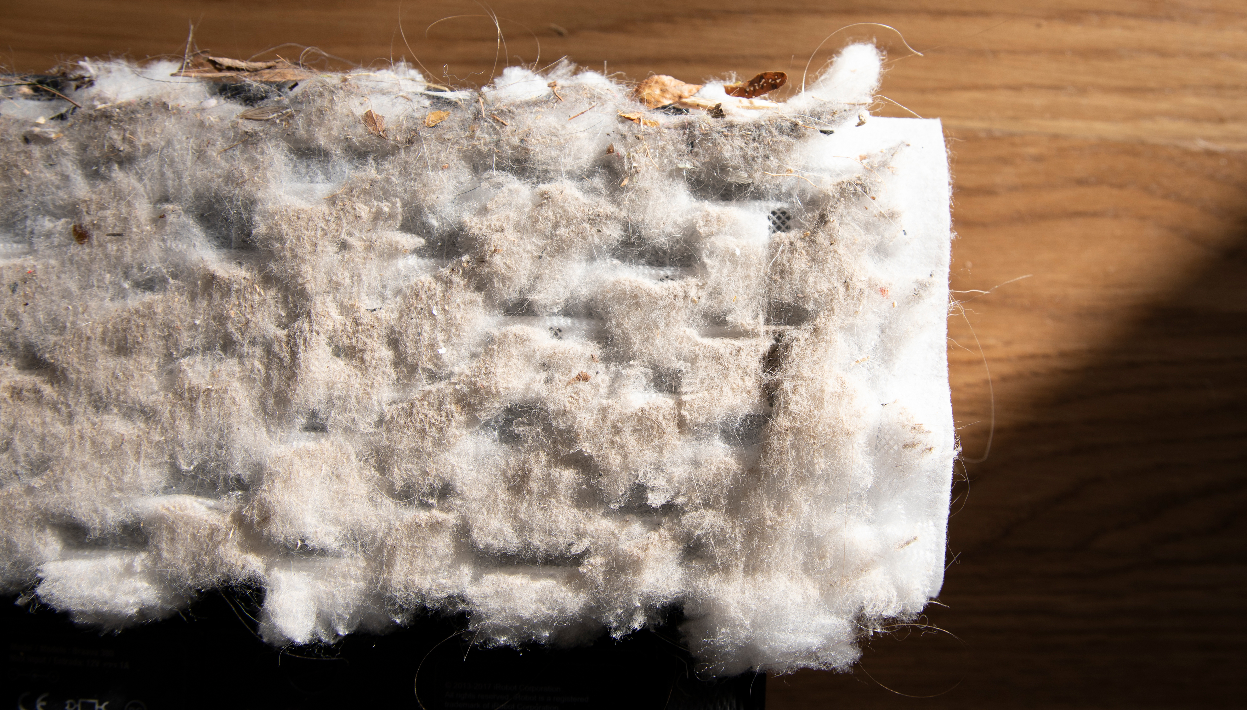 Show a very drity swiffer pad after use