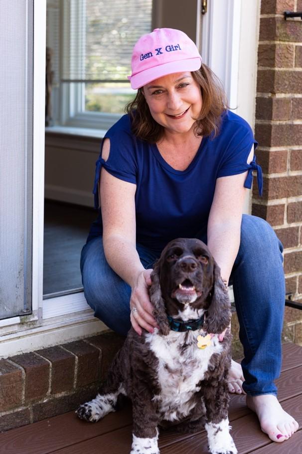 Erin Mantz and her dog