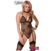 "Schwarz transparenter Straps-Body ""..."