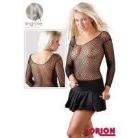Sexy Langarm Netzshirt aus elastischem N...