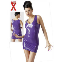 Lila Latex-Minikleid LiLatex