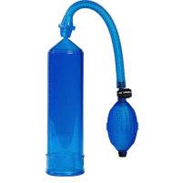 """Transparent blaue Penispumpe - """"Pre..."""