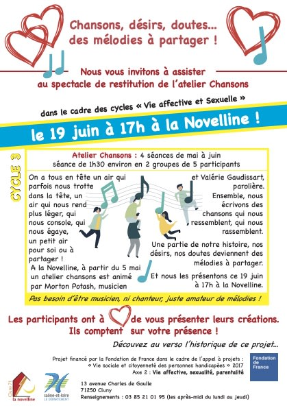 flyer recto spectacle à la Novelline, 19 juin 2021