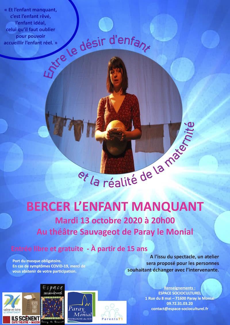 flyer Paray-le-Monial le 13 octobre 2020 au Théâtre Sauvageot