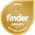 Finder Awards 2019 Winner - Best NBN 100 120