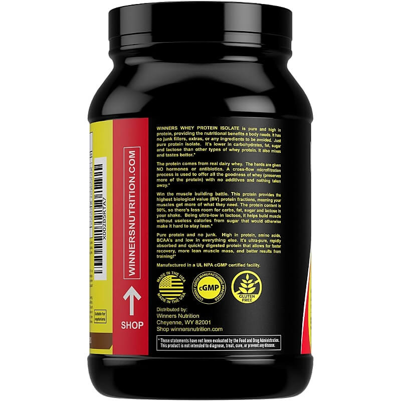 Winners Nutrition Whey Protein Isolate Powder Description