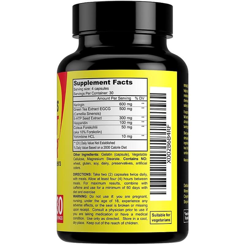 Winners Nutrition Fat Burner Ingredients