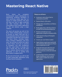Mastering React Native - back cover