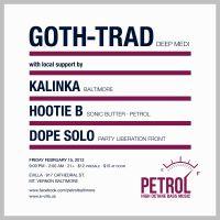 Petrol Goth-Trad flyer