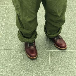 今日はDapper'sのClassical Railroader Coverall Jacket着てきた