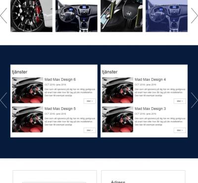 تصميم و تكويد وردبريس لصالح موقع خدمات سيارات بالسويد