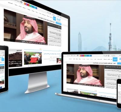 تم بحمد الله الانتهاء من انشاء موقع صحيفة و برمجة و تصميم صحيفة اخبار الراية الالكترونية مع عمل تصميمين مختلفين للجوال والديسك توب و تسريع الموقع و ارشفة فى جوجل مشابهه و مثل موقع سبق السعودي