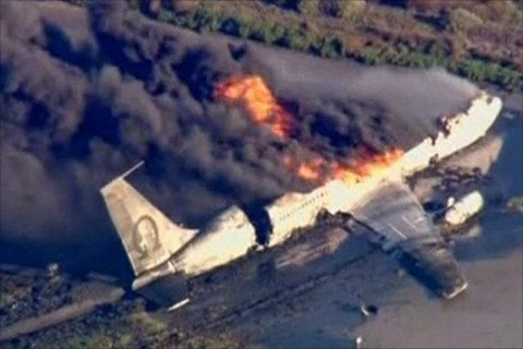 Horror: Cargo Plane Carrying Many People Crashes And Catches Fire Inside Airport