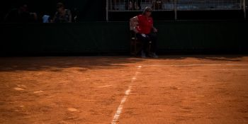 College Tennis Players in French Open Doubles 2016