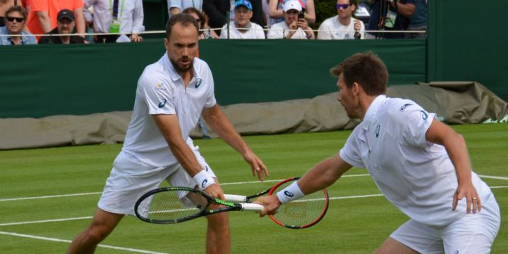 College Tennis Players in Wimbledon Doubles 2016
