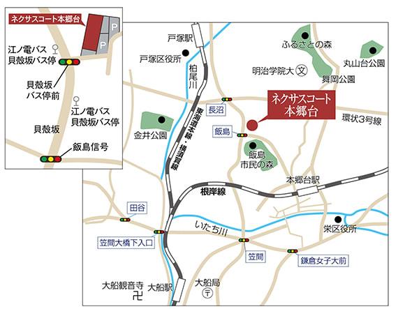 本郷台マップ