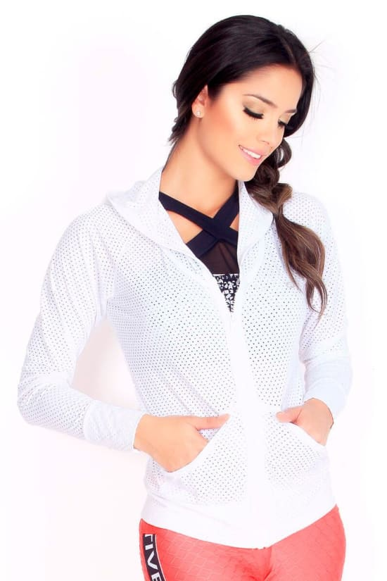 Superdry White Mesh Sport Jacket