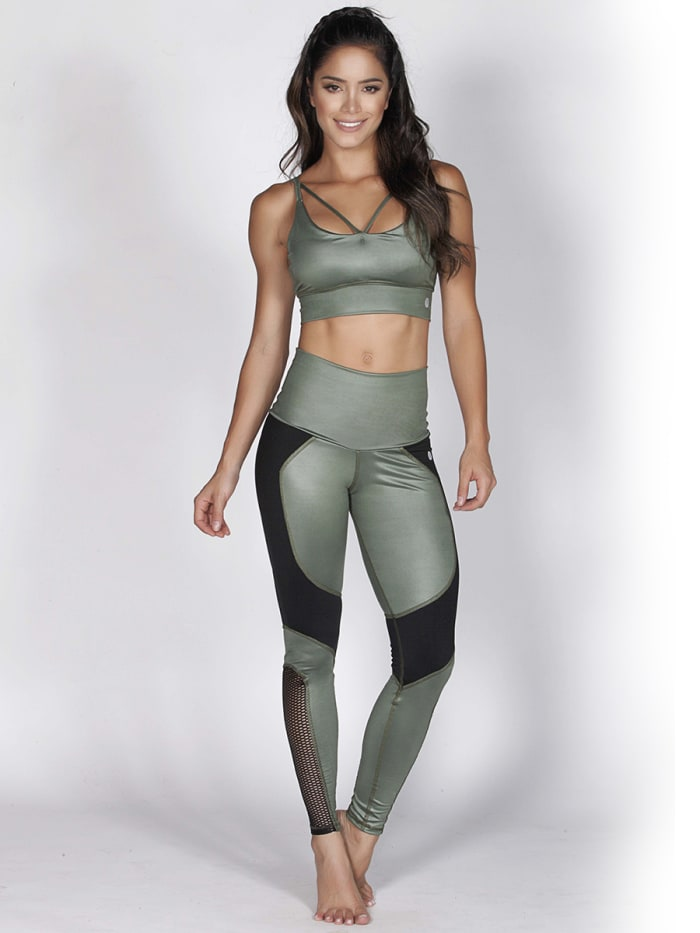Green Fitness Bra Top