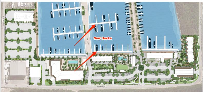 New Docks at Stock Island Marina Village