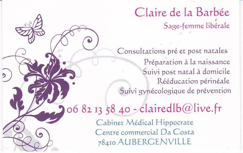 Top Claire DE LA BARBEE, Sage-femme à Aubergenville : Prenez RDV en ligne VJ93