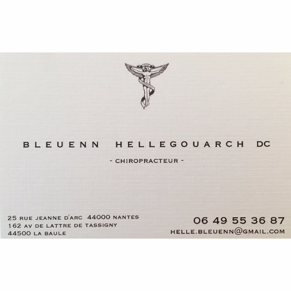 Bleuenn Hellegouarch Chiropracteur A Nantes La Baule Escoublac