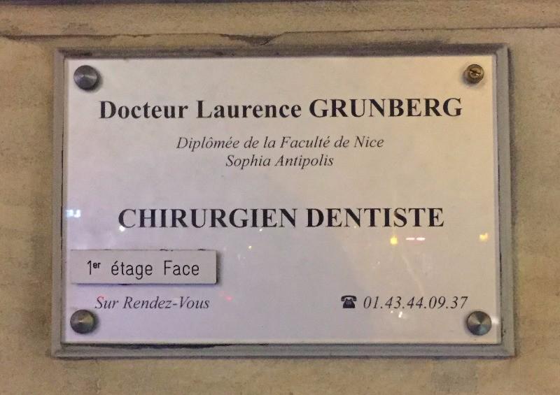 Dr Laurence GRUNBERG Chirurgien Dentiste A Paris