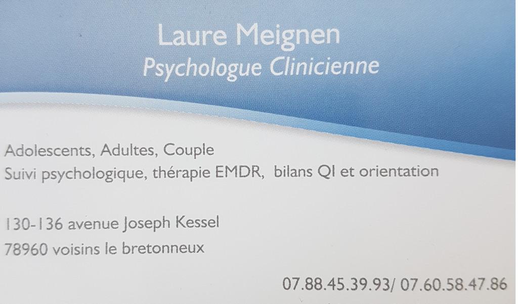 Laure MEIGNEN Psychologue A Voisins Le Bretonneux
