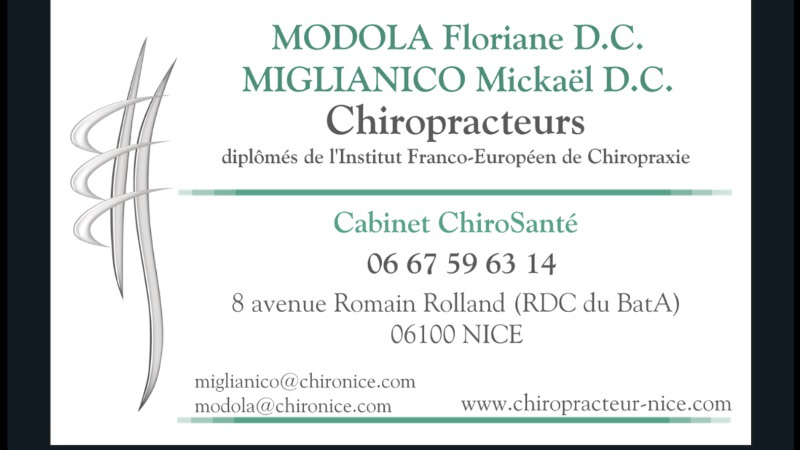 Floriane MODOLA Chiropracteur A Nice Pontoise Prenez RDV En Ligne