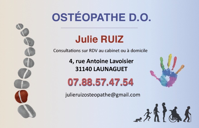 Julie Ruiz Osteopathe A Launaguet Gagnac Sur Garonne