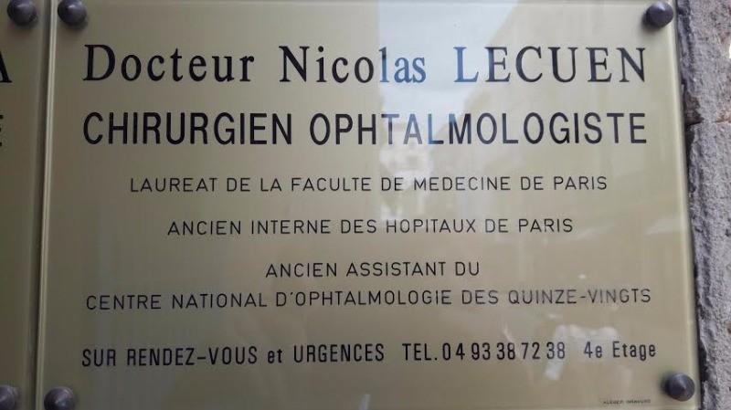 Dr Nicolas Lecuen, Ophtalmologue à Cannes : Prenez RDV en ligne
