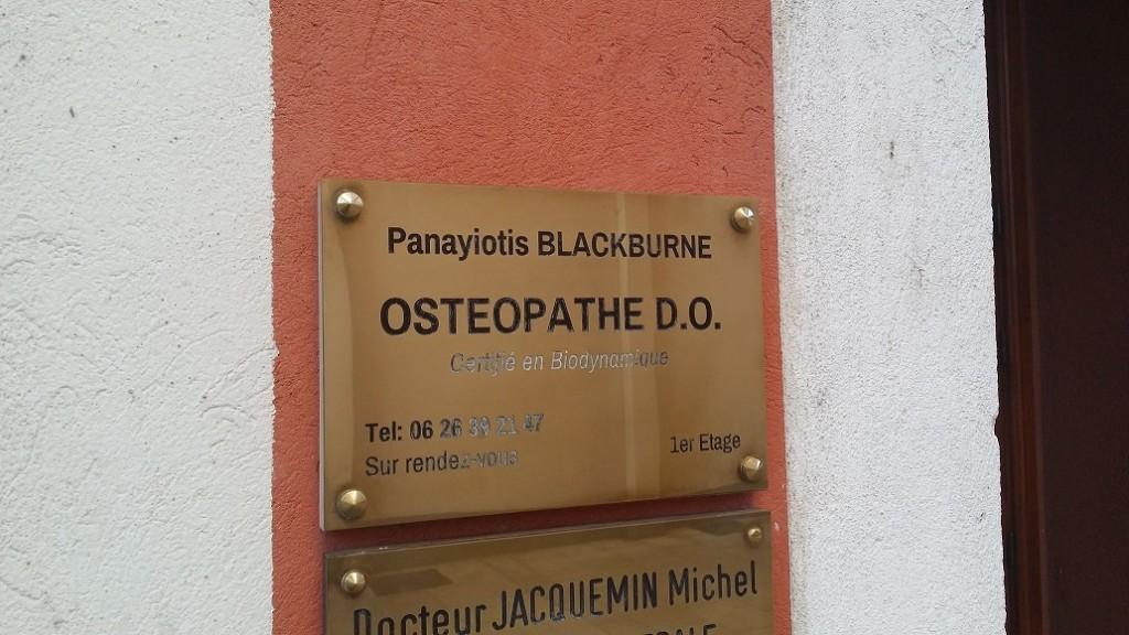 Panayiotis BLACKBURNE Osteopathe A Cagnes Sur Mer