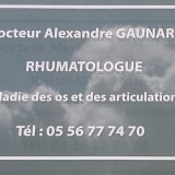 Dr GAUNARD, Rhumatologue à Bordeaux