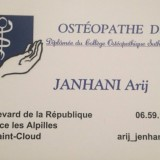 A. Janhani, Ostéopathe à Saint-Cloud