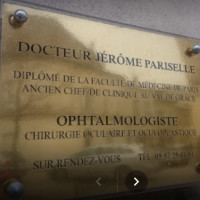 Dr Pariselle, Ophtalmologue à Libourne