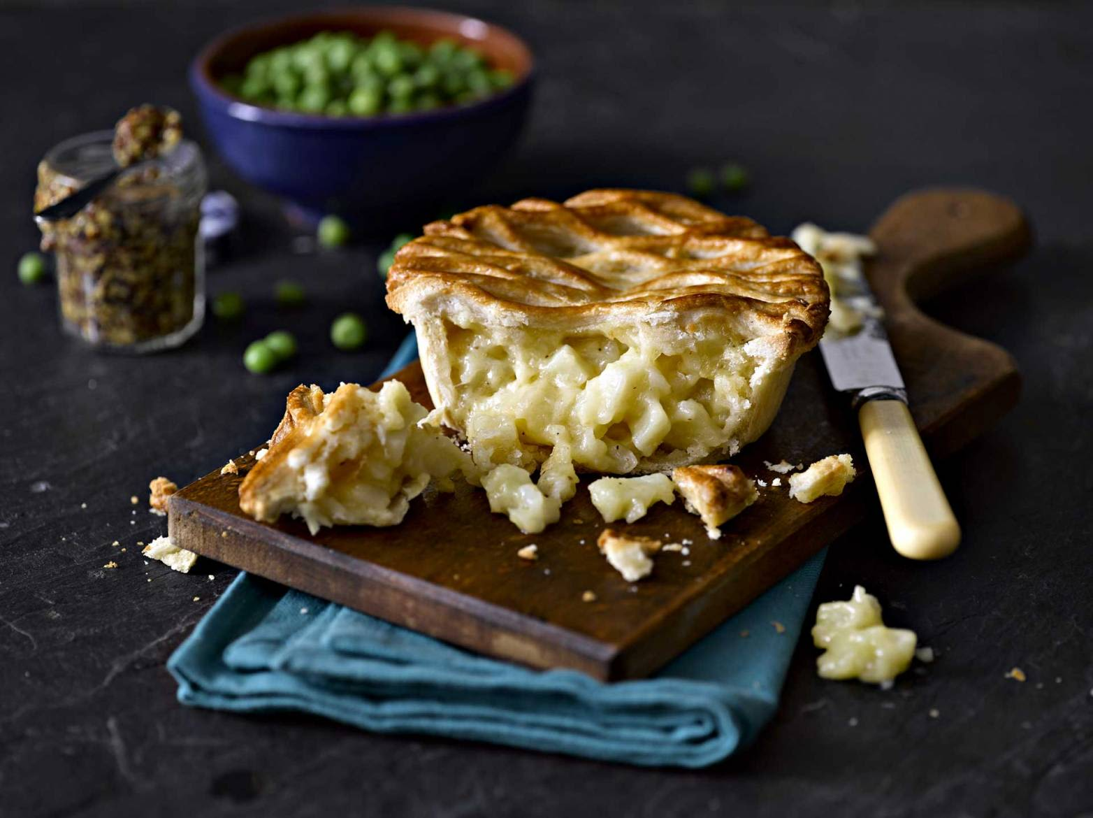Cheese and onion lattice pie for Samworth brother limited