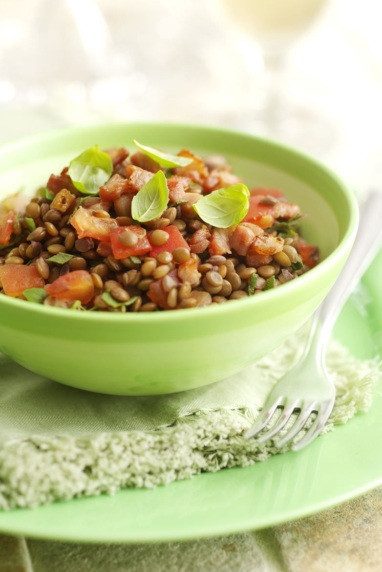 Lentil salad for 500 Salads for Quintet Publishing
