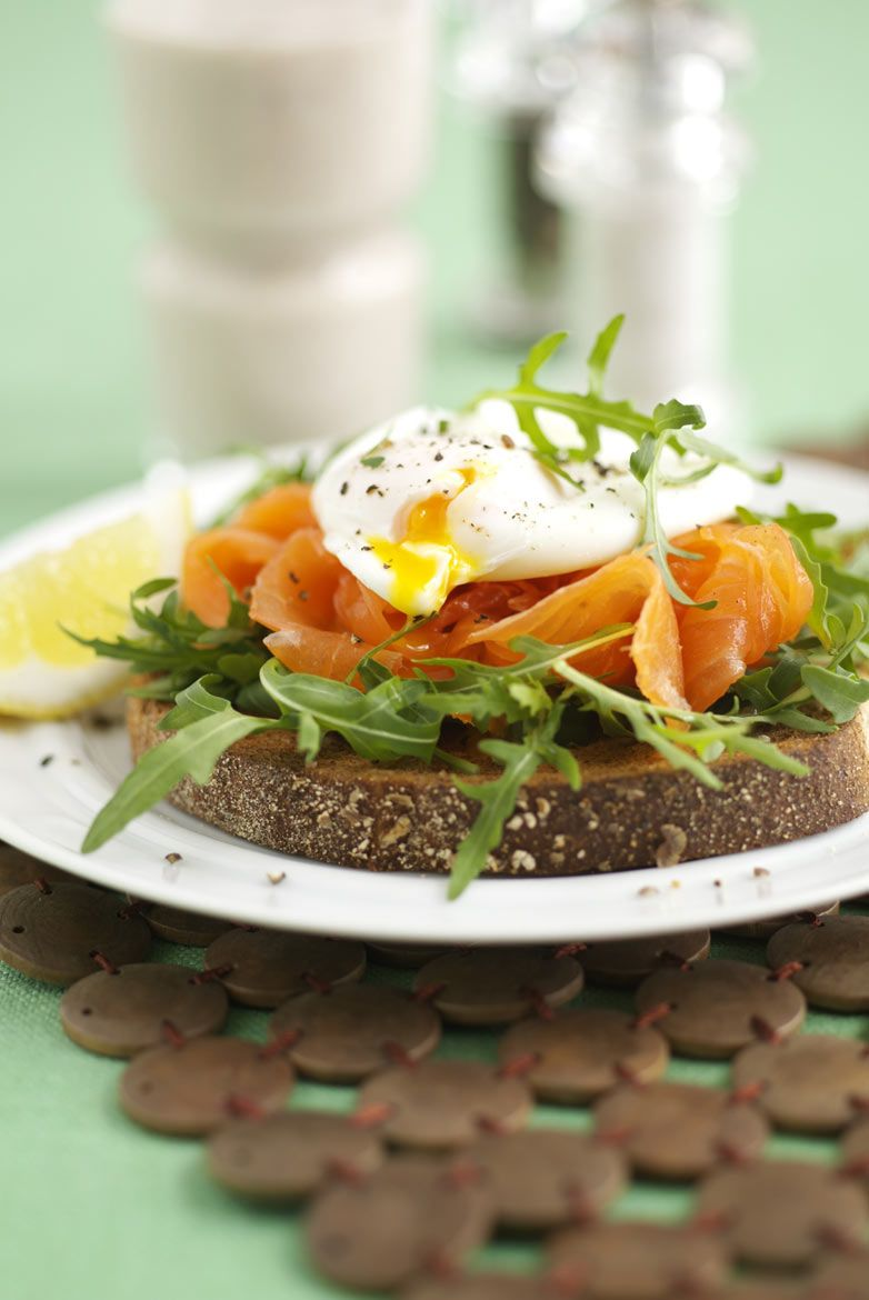 Poached egg and salmon sandwich for Cycling plus magazine