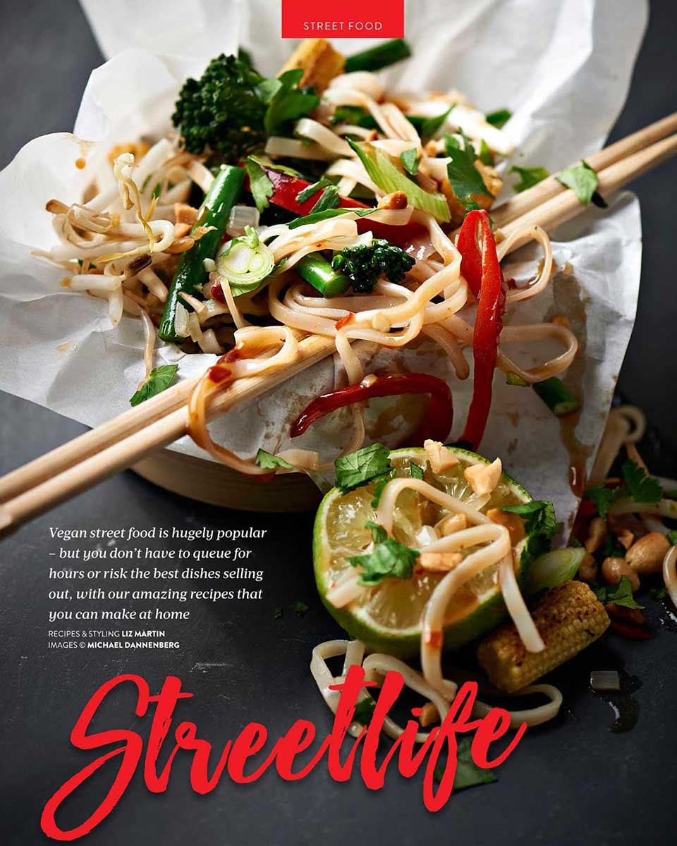 Vegan Living Magazine, Pad Thai is a traditional Thai recipe