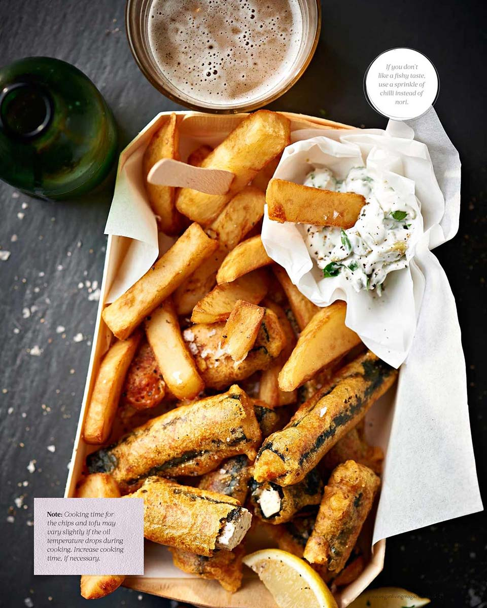 Vegan Living Magazine, Fish and Chips